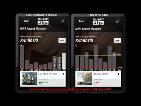 mx518 vs G400 Comparison MW3 - GODJOEY