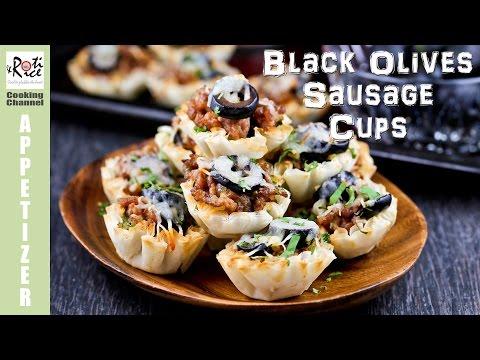 Black Olives Sausage Cups | Roti n Rice