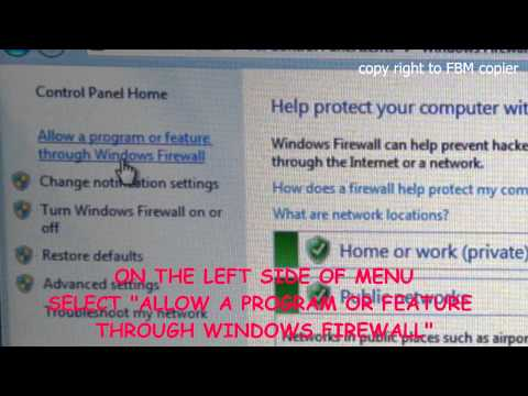 How to enable FTP software on Windows 7 Firewall