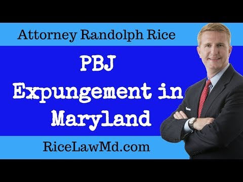 How to: Expungement PBJ (Probation Before Judgment)  Maryland [2018]