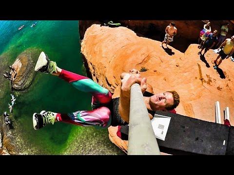 Pole Vault Cliff Jumping Olympics | DEVINSUPERTRAMP