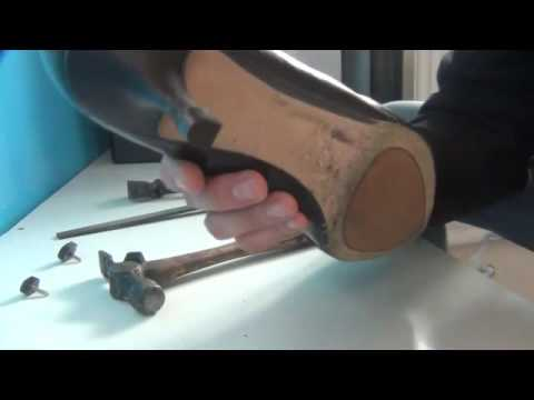 Heel Tip Removing Guide - no rubber tip but replacement is possible. Part 3
