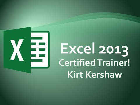 Excel 2013 Print Rows Top Each Page - Repeat Column Headers Training Video