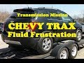 Chevy Trax transmission fluid change process.  ALSO see the caution when changing Engine Oil!