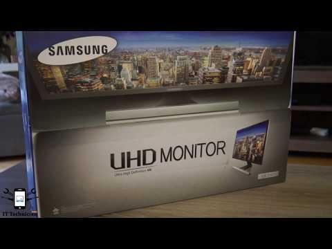 Samsung UE590 4k PC Monitor unboxing