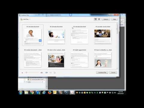 HOW TO Convert multiple HTML pages to PDF in Adobe Acrobat Pro