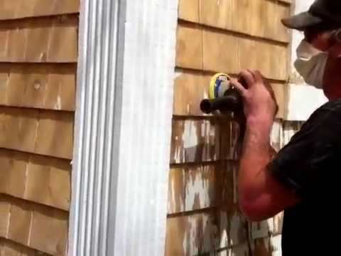 How to Strip Paint Off Cedar Shingle Siding