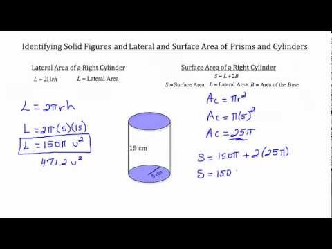 Solid Figures, Lateral and Surface Area of Prisms and Cylinders 1