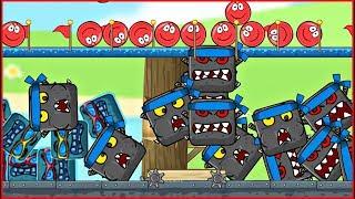 1000 КВАДРАТОВ vs КРАСНЫЙ ШАРИК ! Новая веселая Игра ! развивающая   ! Для детей