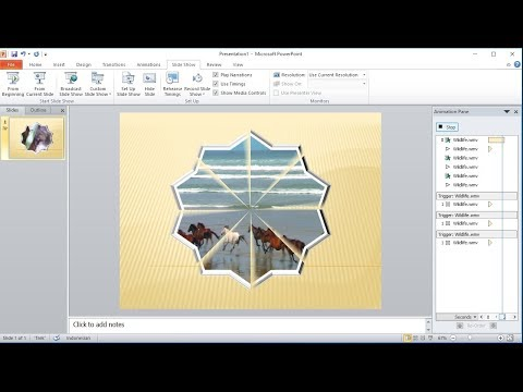 Powerpoint training |How to Crop Video and Add Custom Animation in powerpoint
