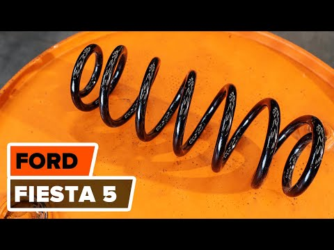 How to replace front springsonFORD FIESTA 5TUTORIAL | AUTODOC