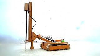 How to make JCB drill excavator from cardboard