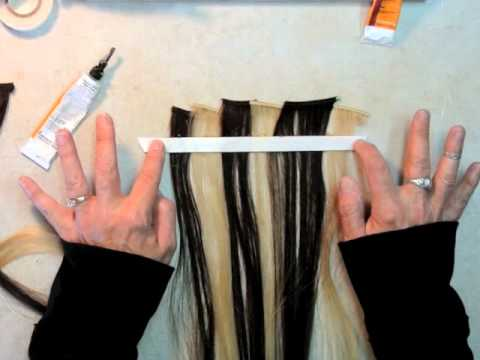 EASY HOW TO MAKE A SEAMLESS TAPE-IN HAIR EXTENSION, By Hairweftingtape.com