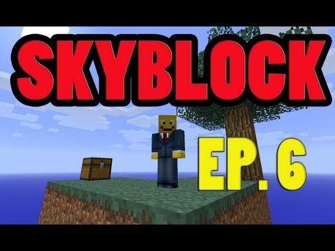 SKYBLOCK EP. 6: NETHER PORTAL!  (Skyblock Survival 2.1 Walkthrough Let's Play Guide)