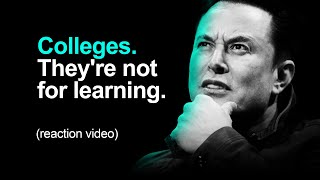 Elon Musk: Education, College & The School He Made For His Kids (reaction video)