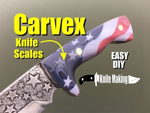 How to make and polish Carvex American Flag Knife handles or Micarta Scales