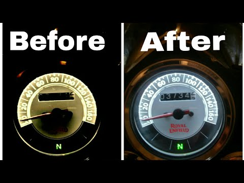 How to change bike pilot | parking | speedometer light | royal enfield modification |easy mods