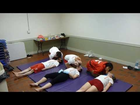 Lifeguarding Drill: Airway Maneuver Progression, Pulse Check with Breathing, Lateral Position