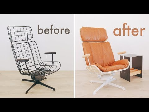 Vintage Eames Style Lounge Chair Restoration / Upcycle
