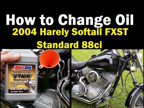 FAST - How to Change Oil on a 2004 Harley Softail FXST Standard