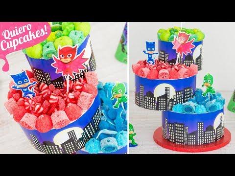 TARTA DE CHUCHES FÁCIL PARA FIESTAS | PJ MASKS | Quiero Cupcakes!