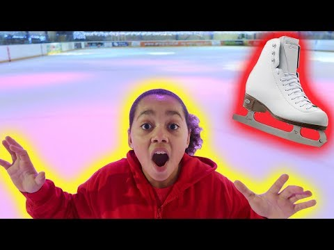 TIANA ICE SKATING for the First Time! | Fun Day Out
