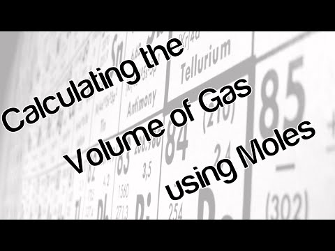 Calculating the volume of a gas using moles