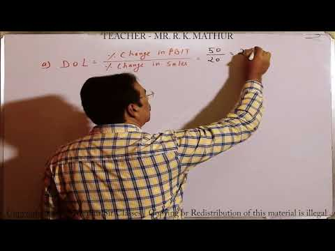 Calculation of Leverage Sums no 06 | Financial Management | Mathur Sir Classes