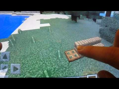 minecraft pocket edition how to build a bench