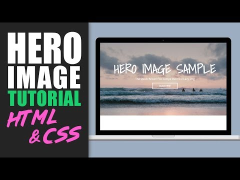 Banner image/Hero Image Tutorial with HTML and CSS