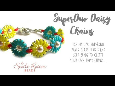 SuperDuo Daisy Chains - Beaded Bracelet
