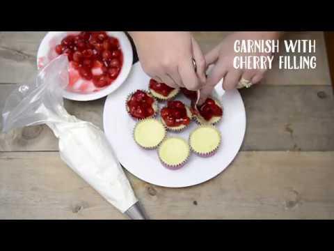 Cherry Red Raspberry Mini Cheesecakes