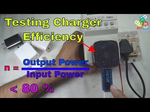 Mobile Phone Chargers are 70 to 80 % Efficient: Testing Chargers