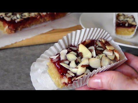 Almond Raspberry Jam Bars