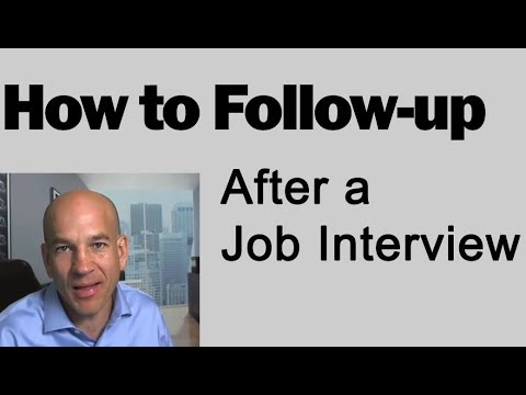 How to Follow up After a Job Interview - Training Module 7
