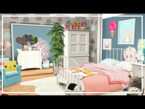 SIMS 4 KAWAII BEDROOM 💛 Room build + Custom Content List