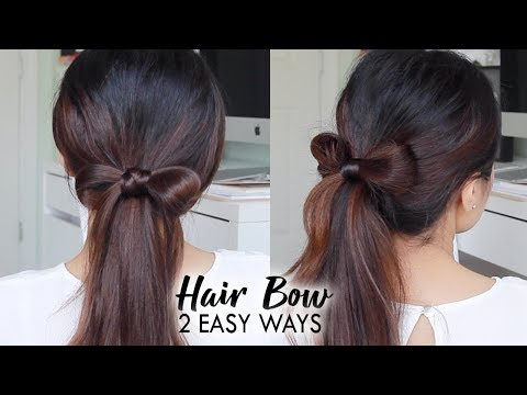 How to: HAIR BOW TUTORIAL | Easy Hairstyles for Long Hair