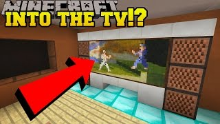 Minecraft: GOING INTO THE TV?!? - Hidden Buttons 7 - Custom Map