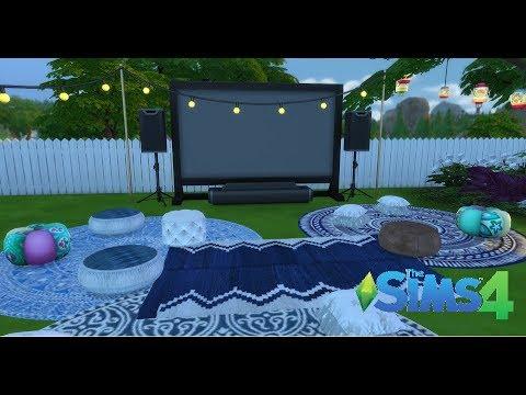 TS4 Backyard Movie Night