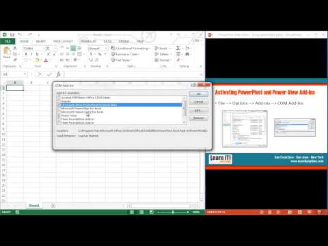 Learn Excel 2013 : How to Install Power Map And Power Query