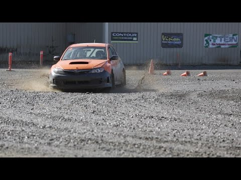 Rally School Pt. 2: Learning to Drive on the DirtFish Skidpad