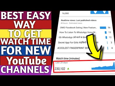 BEST EASY WAT TO GET WATCH TIME FOR NEW YOUTUBE CHANNELS | STAY SMART