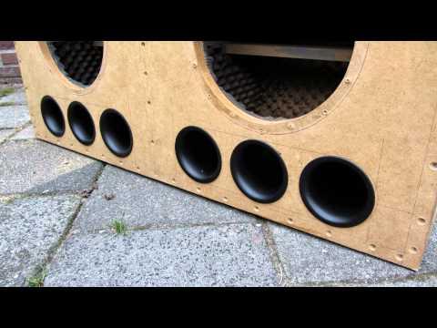 ตีตู้ลำโพง How to make Subwoofer Box Enclosure Design Ported Box 2 10 DD Audio 510b