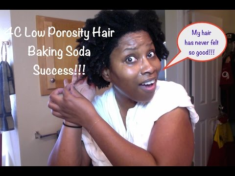 Low Porosity 4C Natural Hair | Baking Soda - Moisture Success!!! (97)