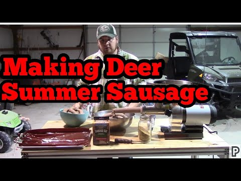 How to make deer summer sausage Part 1