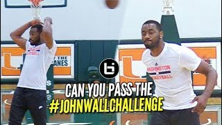 "Could YOU ""Pass"" the John Wall Challenge?!? CRAZY No Look Passing Package #JOHNWALLCHALLENGE"