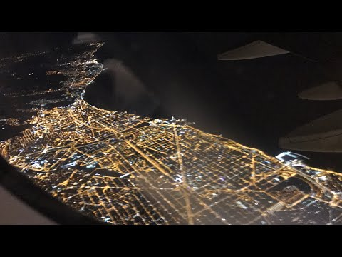Barcelona beach night view from sky