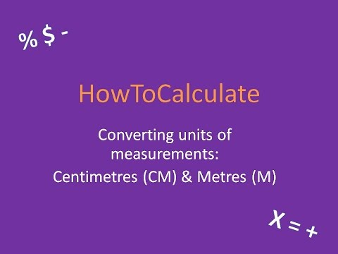 How to Convert Between Centimeters (CM) and Meters (M)