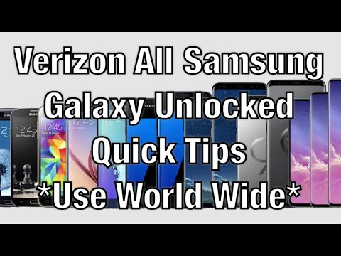 Verizon Samsung Galaxy s3/s4/s5/s6/s7/s8 /Note 3 4 5 7 How To Unlock For T-Mobile At&t Simple M