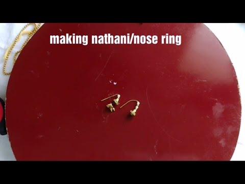 How to make nose ring/Maharashtra style nathani/nattu -at home